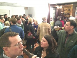 Giuseppe's Trattoria crowded Saturday night.